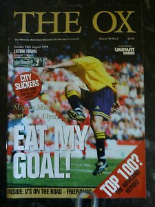 OXFORD-UNITED-v-LUTON-18-08-1998-WORTHINGTON-CUP-FOOTBALL-PROGRAMME