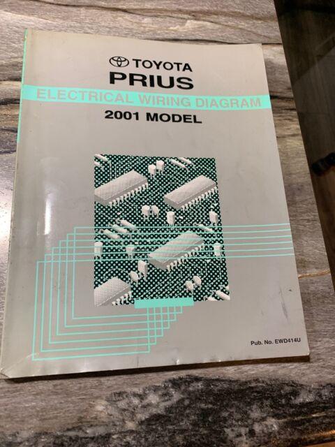 2001 Toyota Prius Electrical Wiring Diagram Manual Ewd