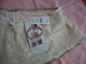 BRAND-NEW-FAYREFORM-PANTIES-KNICKERS-SIZE-LARGE-CARAMEL-BEIGE-CREAM-WITH-LACE