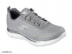 Skechers-Scarpa-Flex-Appeal-2-0-Metal-Madness-donna-Memory-Foam-Art-12764