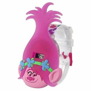 Dreamworks Rosa Papavero Per Bambini Trolls Ragazze Luci Lampeggianti Lcd To Ensure A Like-New Appearance Indefinably Other Watches Jewelry & Watches