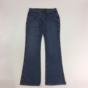 Lucky-Brand-Womens-Jean-Ashberry-Flare-O-Size-10-30-Medium-Wash-Lace-Up-Denim