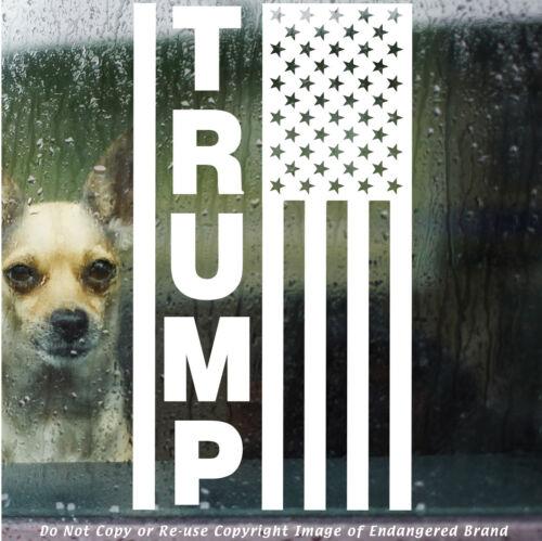 Trump Flag Stars Top Right Wall Great Politics NRA truck car jeep Decal Sticker