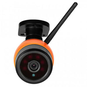 VESKYS 960P Outdoor Waterproof Wireless Security Bullet IP Camera Black & Orange