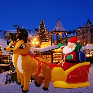 7-Inflatable-Christmas-Air-Blown-Santa-Claus-Double-Reindeer-LED-Yard-Decor