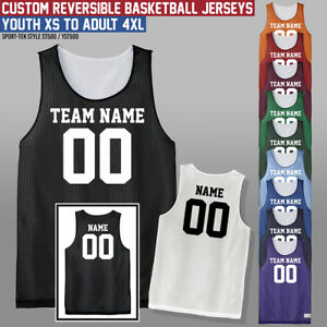 b3f25b6a4651 Image is loading Custom-Reversible-Basketball-Jersey -Youth-Adult-Many-Colors-