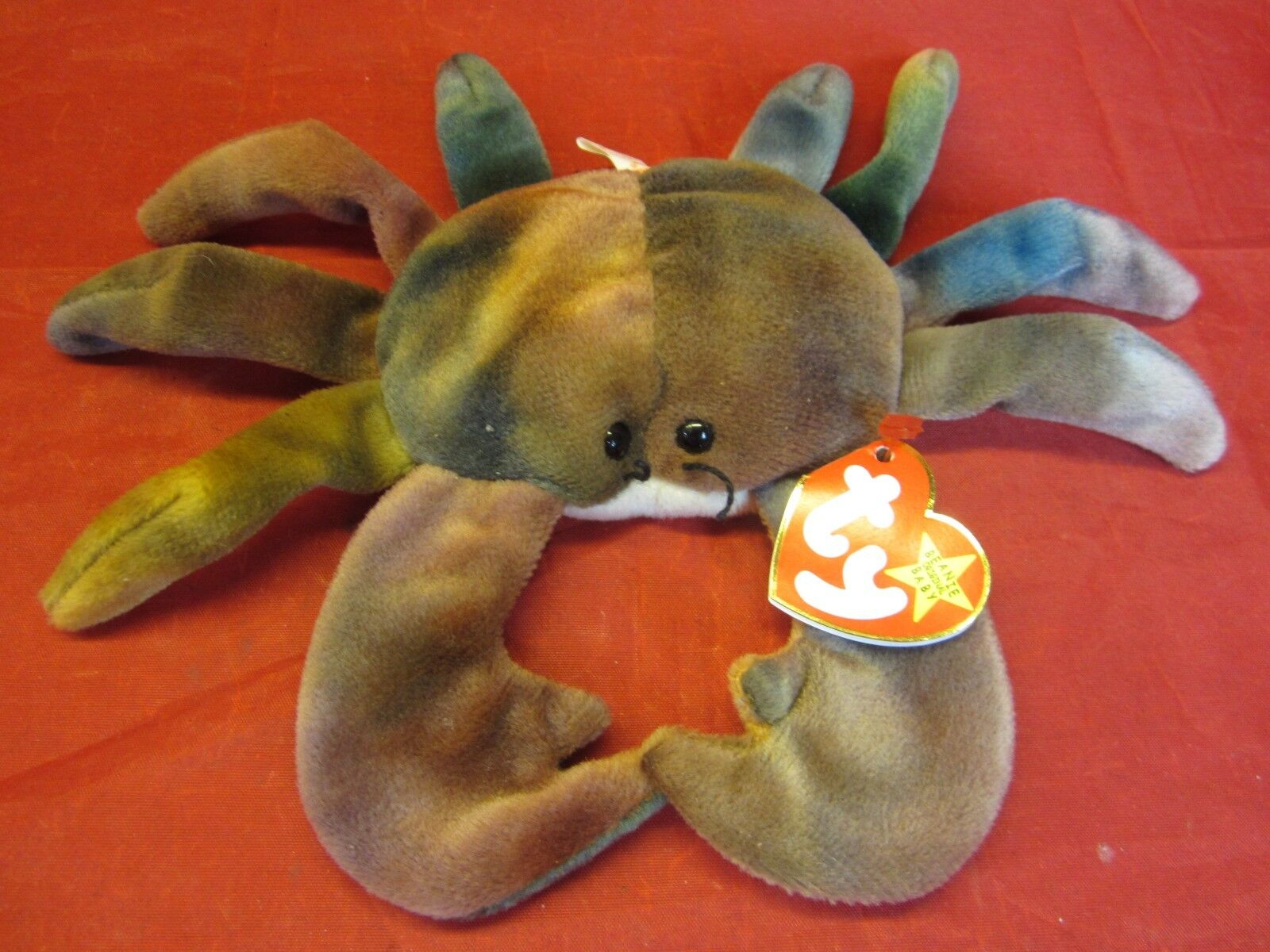 a7247c8c84b Rare TY Beanie Baby Claude Claude Baby the Crab Bear Original Collectible w  Major Tag Errors