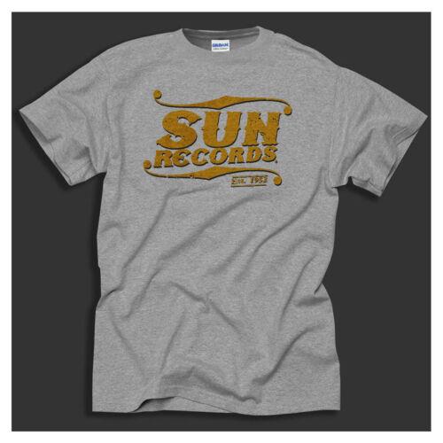 Sun Records Elvis Cash Roy Sun Studio Music Distressed Print Grey T-Shirt