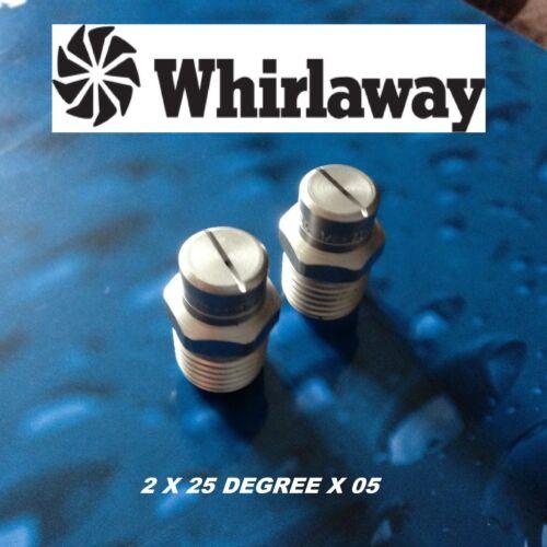 Acero giran una manera Whirlaway chorros de la boquilla 25//02.5 Nuevo dos 2