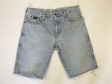 Mens Wrangler Reworked Denim Shorts - W38 - Faded Navy - Great Condition