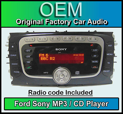 ford c max cd mp3 player ford sony car stereo head unit. Black Bedroom Furniture Sets. Home Design Ideas