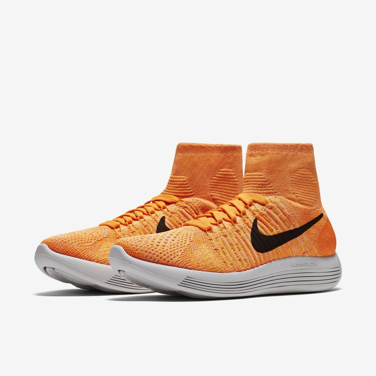 Nike WOMEN'S Lunarepic Flyknit Laser Orange/Bright Citrus SIZE 9.5 BRAND NEW