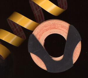 1x ROTEX Dymo 9mm x 1,0M PRÄGEBAND BLACK schwarz MATT prägeetiketten label />/>/>