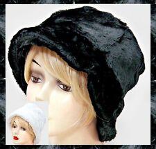 Warm Faux Fur Furry Fuzzy Winter Hat Bucket Soft Cute NEW