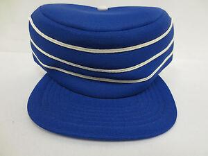 cd58d12c00139 Details about PILLBOX BLUE BASEBALL USA STYLE HAT CAP VINTAGE RETRO MENS  TRUCKER SNAPBACK VTG