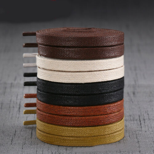 1 pairs Flat Wax Shoelaces Canvas Sneaker Boots Leather Shoe Laces String Shoes