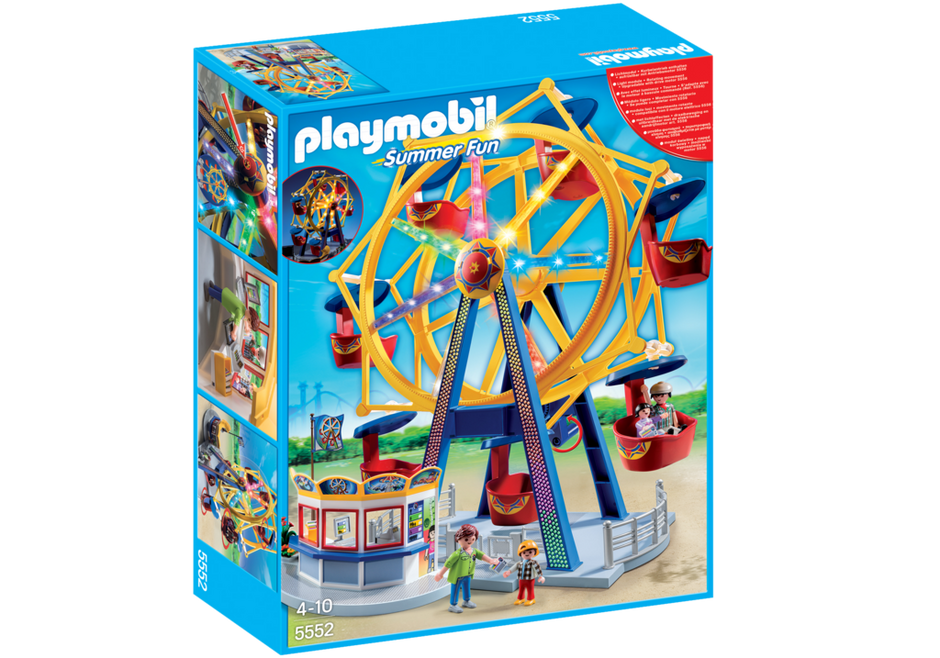Playmobil Grande Roue 5552 avec lumières, neuf jamais monté, boîte scellée
