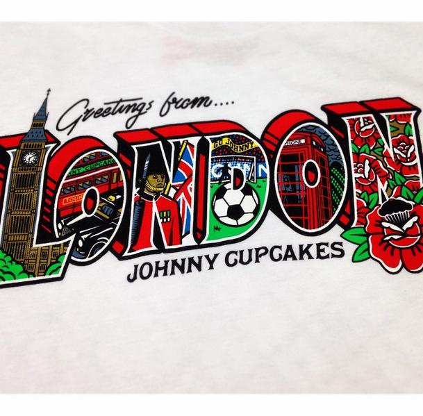 Johnny Cupcakes London Postcard,  Herren LARGE, London Shop Exclusive