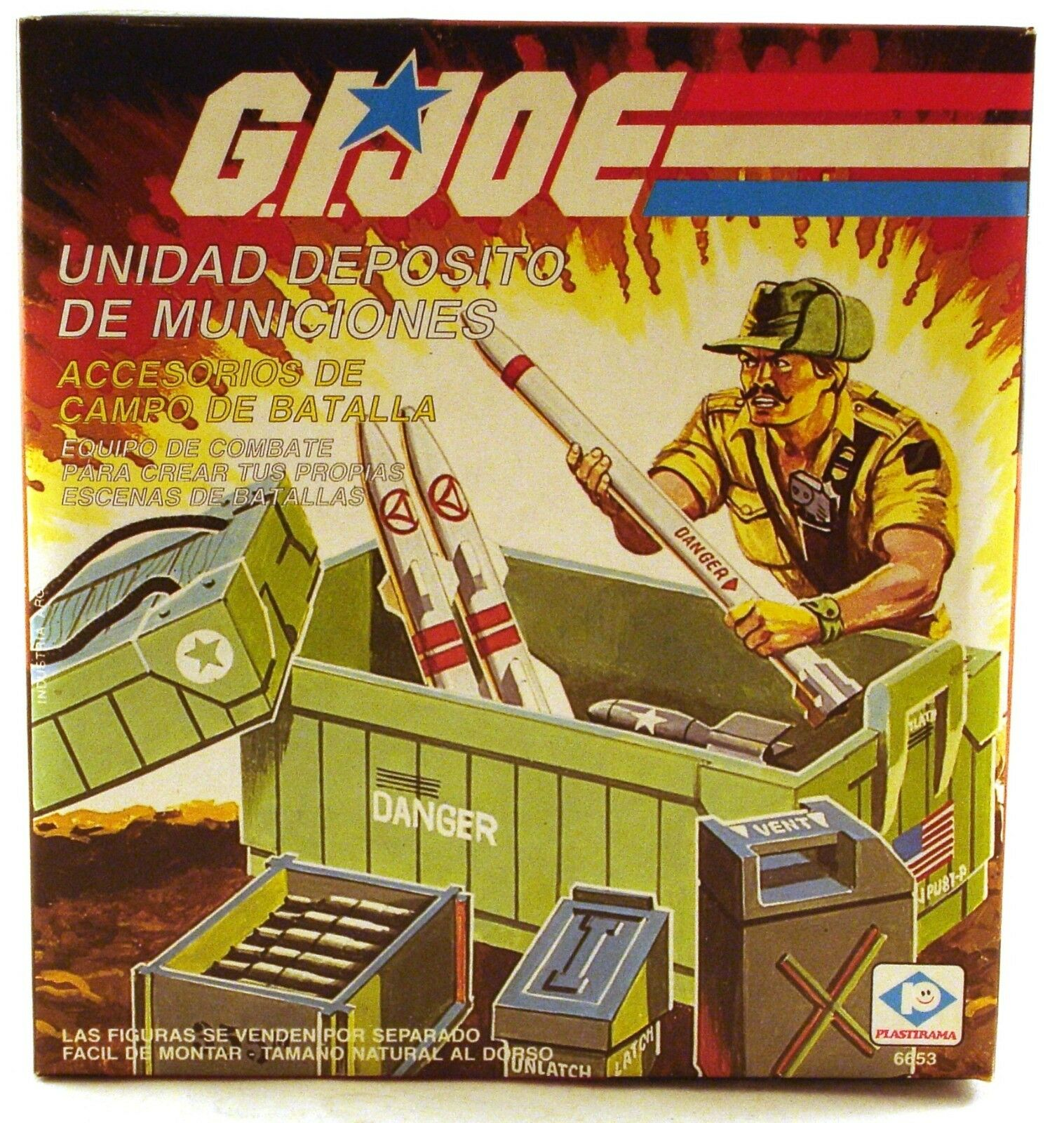 1986 GI G.I. JOE AMMO DUMP UNIT mint on sealed box MIB MISB Plastirama Argentina
