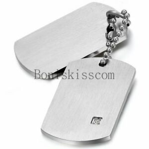 Stainless Steel Military Army Dog Tags Men Pendant Necklace with ... 6aec1abf3360