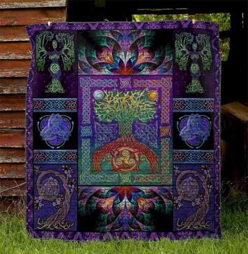Tree Of Life Quilt Celtic Fleece Blanket