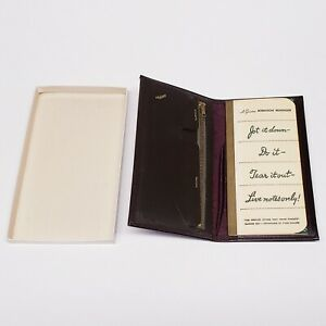 Vintage Robinson Reminder Leather Notebook With Pockets And Zipper - Never Used