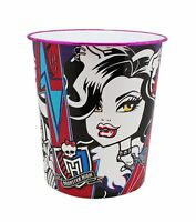 Monster High Pink Purple And Blue Colored Platic Trash Can Free Shipping