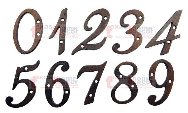 House Plaque 125mm Large Cast Iron Metal Rustic House Address Letter B