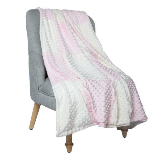 "Boritar Super Soft Baby Blanket Throw with Minky Raised Dotted Pink 30/""x40/"""