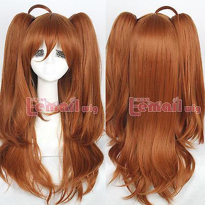 Lolita Harajuku Mari Maya Chestnut Brown Long Curly Wave Hair Anime Cosplay Wigs