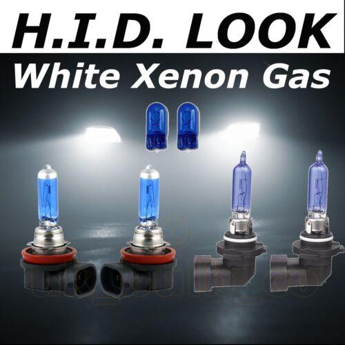 H11 H9 55w//65w White Xenon HID Look High Low Fog Beam Headlight Bulb Pack