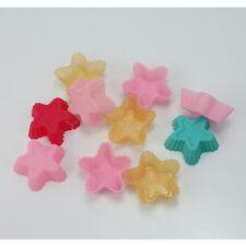 10X Silicona Molde Forma de Estrella para DIY Hornada Cupcake Magdalena Torta