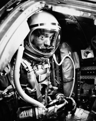 8X10 NASA PHOTO ALAN SHEPARD MERCURY ASTRONAUT ZZ-090