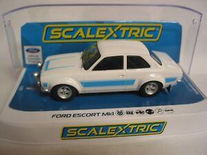 Scalextric-C4011RS-Ford-Escort-MK1-RS2000-Blanco-Azul-Ltd-Ed-De-0140-200-Nuevo