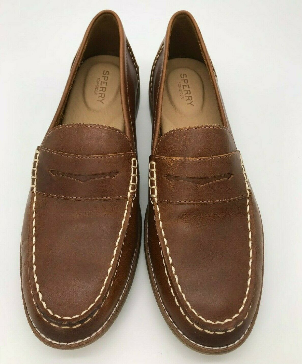 Sperry Women's Seaport Penny Loafer, Tan, Size 10 M US, STS81928