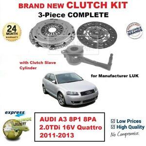 FOR AUDI A3 8P1 8PA 2.0TDi 16V Quattro 2011-2013 BRAND NEW 3PC CLUTCH KIT + CSC