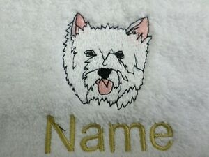 Bath Robes DOG Embroidered onto Towels Hooded Towel with Personalised name