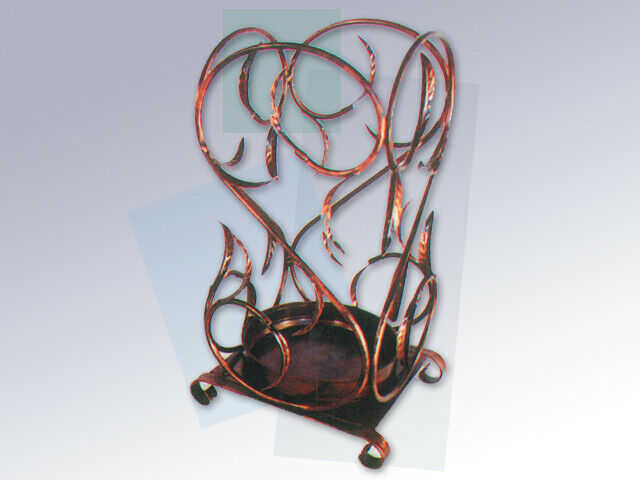 Portaombrelli porta ombrello in ferro battuto quadrato ramato e foglie ingresso