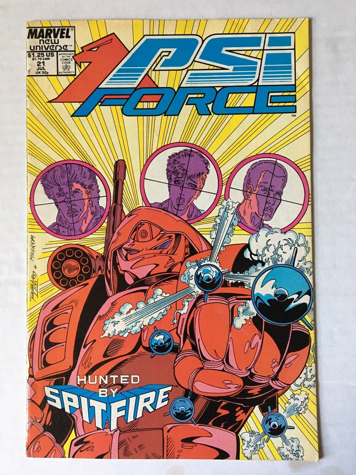 Spitfire and the Troubleshooters #4 Jan 1987 Marvel Comic Book VGFN