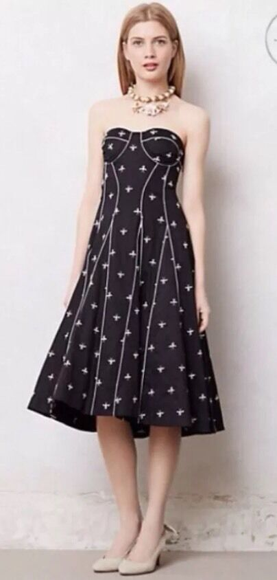 NWOT Anthropologie   JEWELED DRAGONFLY DRESS BY FLOREAT ADORABLE  6