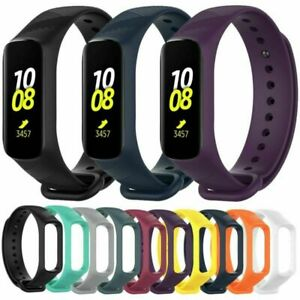 Premium-Silikon-Armband-Uhrenarmband-fuer-Samsung-Galaxy-Fit-E-R375-2019-Tracker