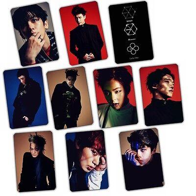 10pics EXO CARDS STICKER EXACT MONSTER CHANYEOL BAEKHYUN SEHUN SUHO XIUMIN KAI