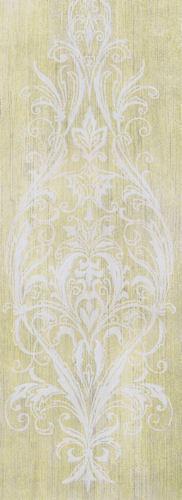 Yellow /& White Wallpaper   AR7432 Ronald Redding Arabesque Motif Stripe in Sage