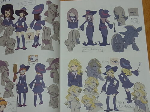 Little Witch Academia The Enhanted Parade Art Book 100page