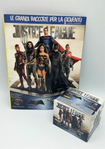 PANINI ALBUM BOX 50 Bustine JUSTICE LEAGUE JUSTICIA packets figurine Stickers