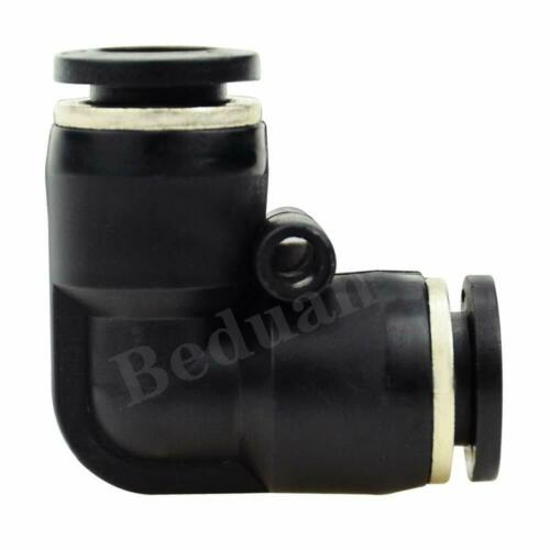 8x8mm Tube OD Pneumatic 90°Degree Adapter Push in Fitting for Compressor 10 pcs