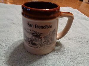 vintage SAN FRANCISCO GOLDEN GATE BRIDGE CABLE CAR coffee cup mug