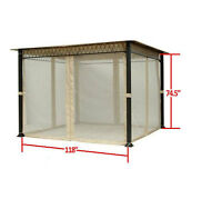 Garden Winds Universal 10 X 10 Gazebo Mosquito Netting Set