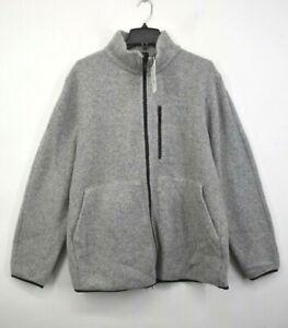 Theory Mens Long Sleeve Full Zip Arctic Fleece Wool Blend Funnel Jacket XXL