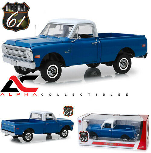 Po carretera 61 HWY-18011 1 18 1970 Chevrolet C-10 Camión Elevación blu Oscuro